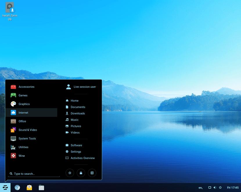 zorin OS 12.4 desktop