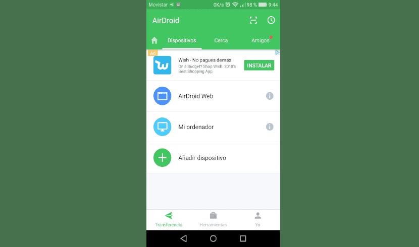 airdroid dispositivos disponibles