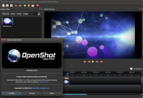 Captura de pantalla de OpenShot