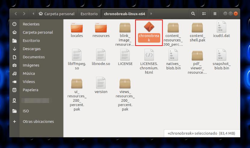 chronobreak archivo lanzador