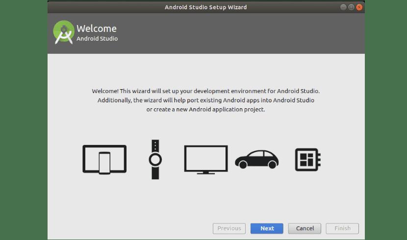 inicio instalación android studio 3.1.4