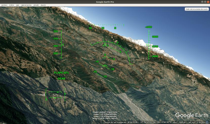 simulador de vuelo google earth pro