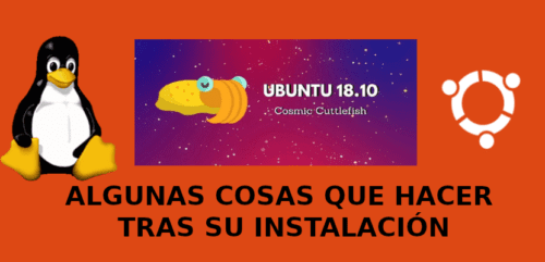 cosas que hacer tras instalar Ubuntu 18.10