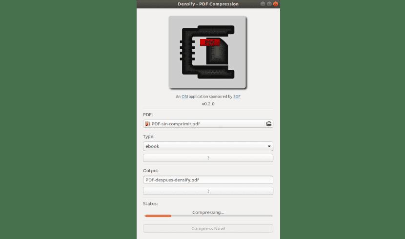 Densify comprimiendo archivo PDF