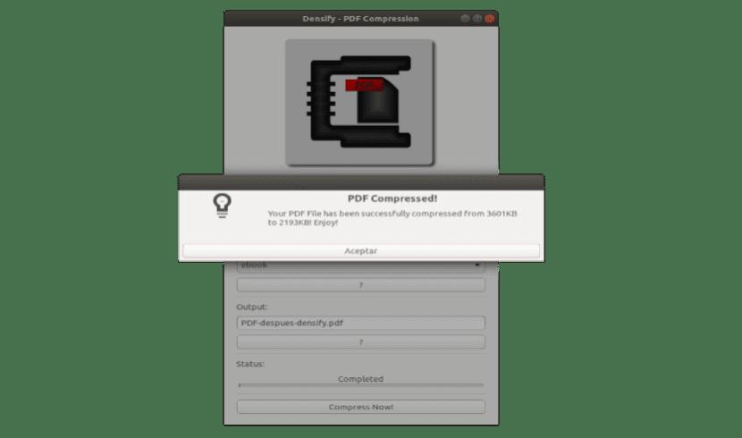 PDF comprimido con Densify