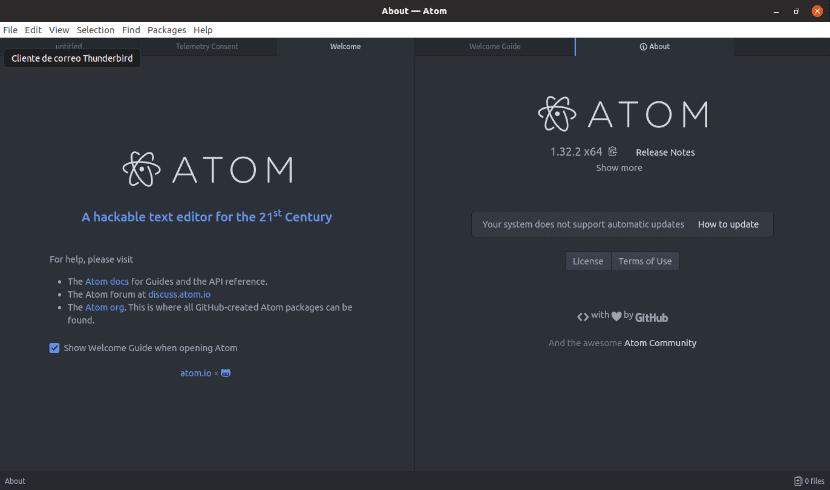 about editor Atom en Ubuntu