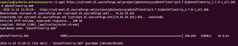 descargar photofilmstrip con wget