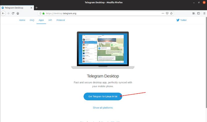 Descarga cliente telegram tarball
