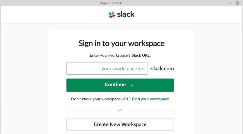 espacio de trabajo Slack