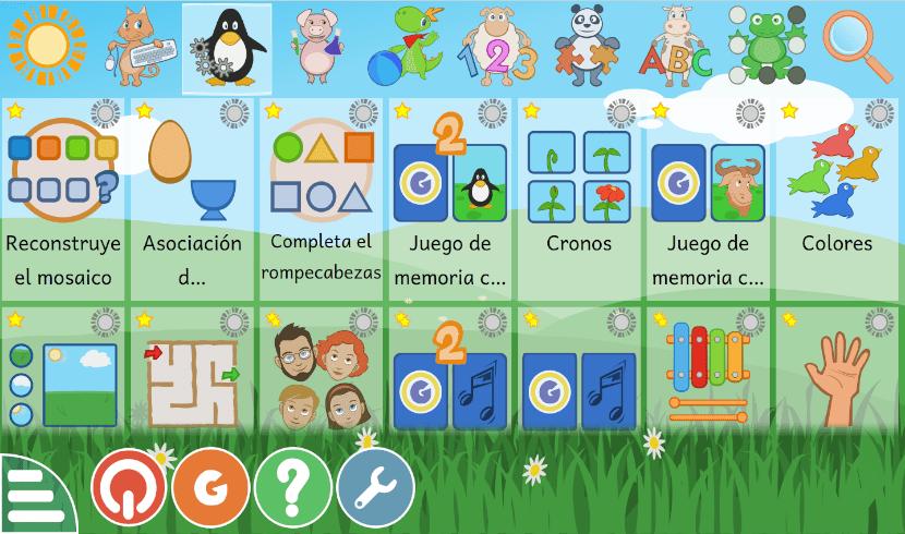 juegos de una categoría en GCompris