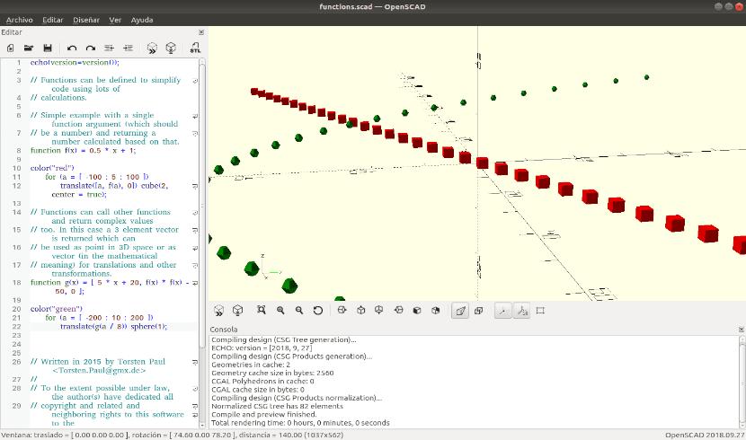 OpenScad proyecto de ejemplo