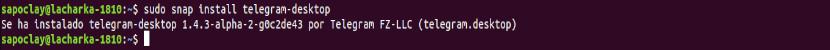 snap install telegram-desktop
