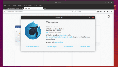 waterfox about