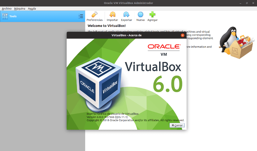 about VirtualBox 6