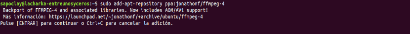 add repository ffmpeg 4X