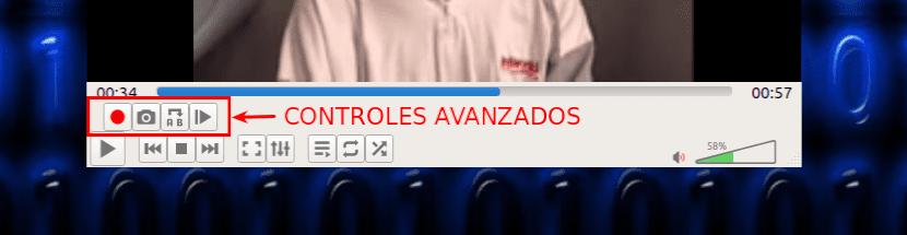 controles avanzados en VLC