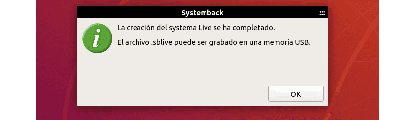 creación sblive terminada con Systemback