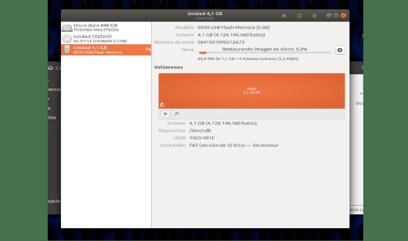 Creando un USB booteable con el grabador de imágenes de disco