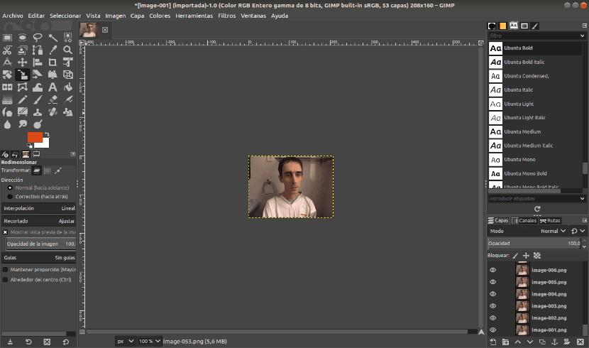 frames gif en GIMP
