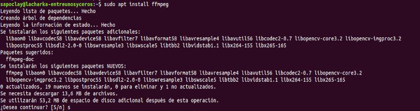 instalación ffmpeg 4.x