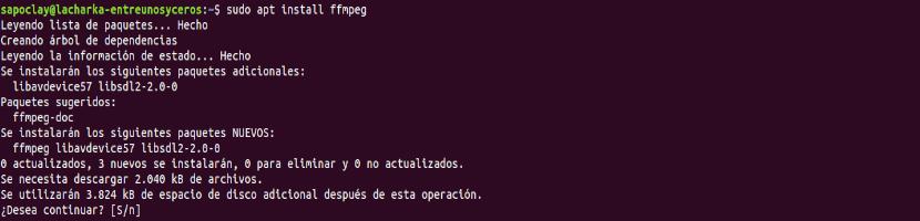 instalación ffmpeg 3.4.4