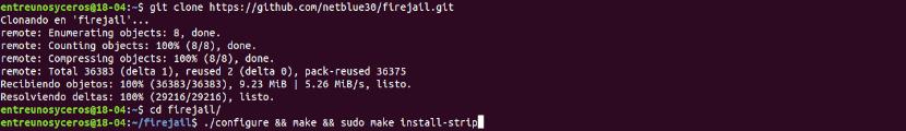 instalación Firejail desde código fuente