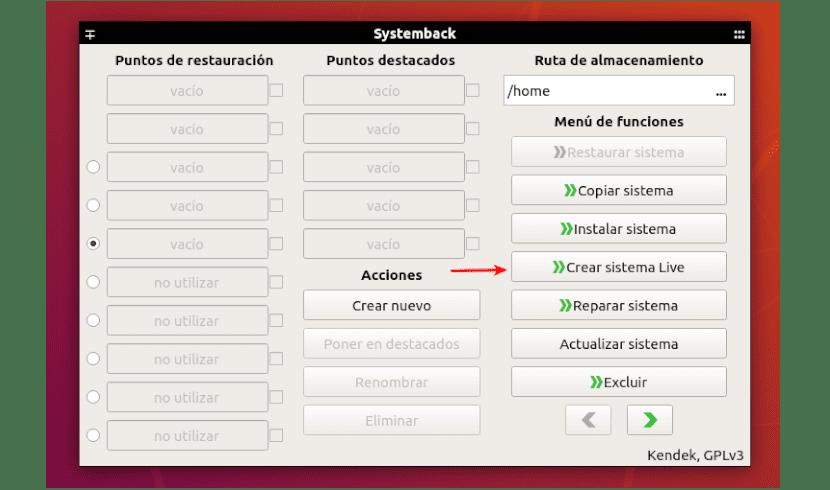 interfaz systemback