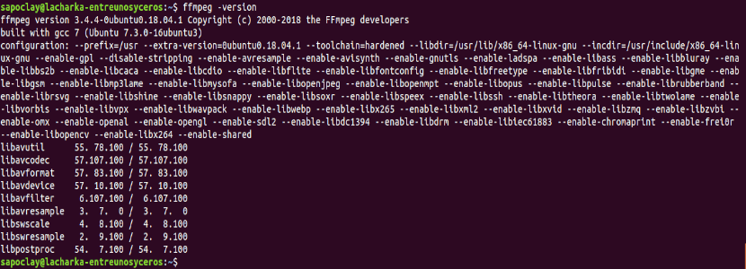 ffmpeg version 3.4.4
