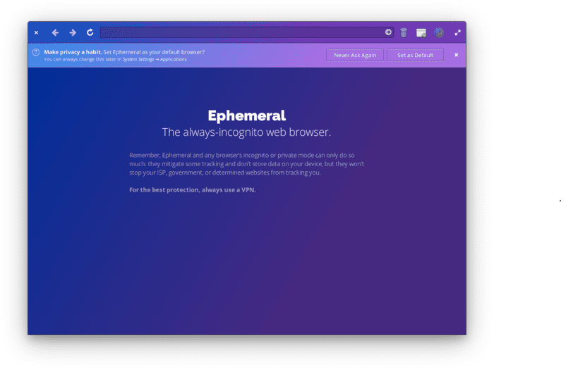 Ephemeral browser