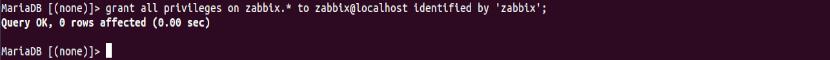 add password db zabbix