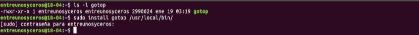 Instalación de GoTop