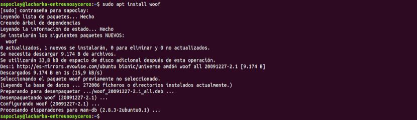 Instalación de Woof en Ubuntu 18.04