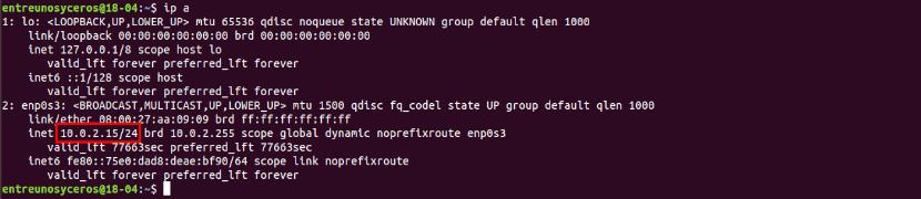 ip servidor