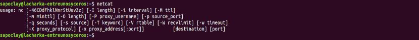 Netcat instalado en Ubuntu