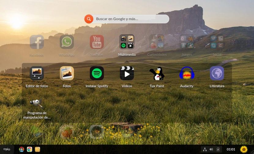 Carpeta de apps en Endless OS