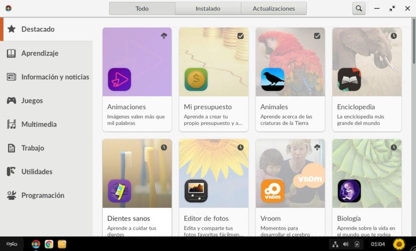 Aplicaciones instaladas en Endless OS