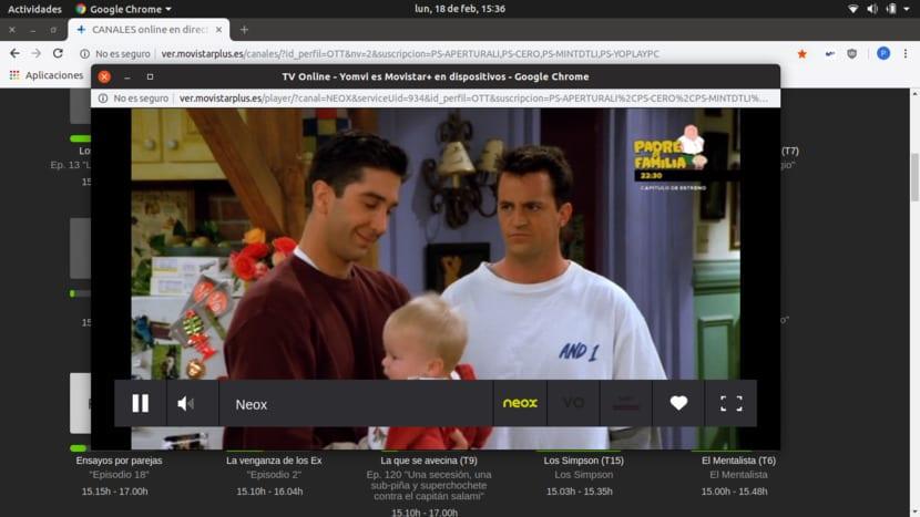 Movistar+ en Google Chrome