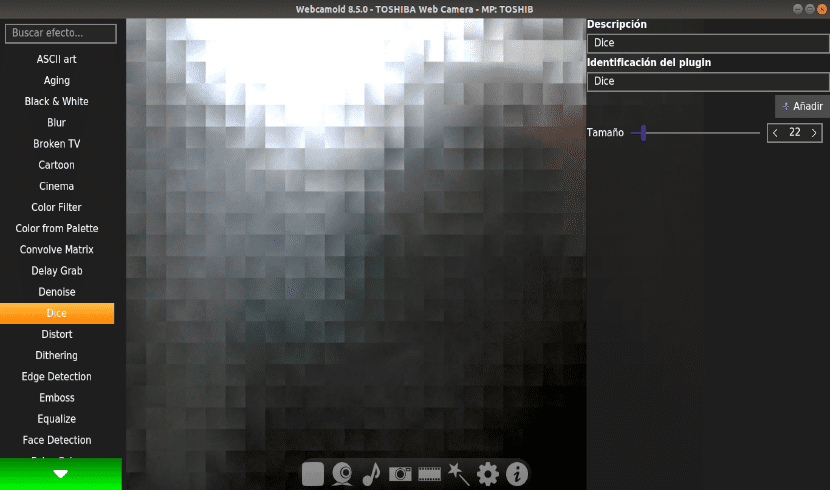 efectos webcam webcamoid