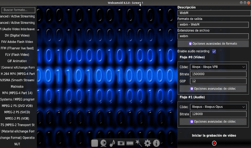 grabar escritorio con webcamoid