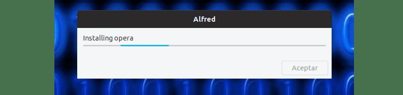 instalando Opera con Alfred
