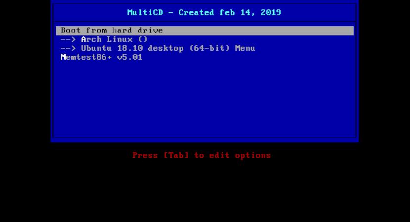 pantalla de inicio multicd iso múltiple