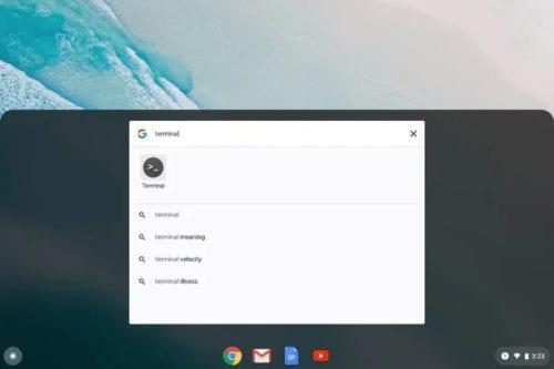 Terminal en Chrome OS