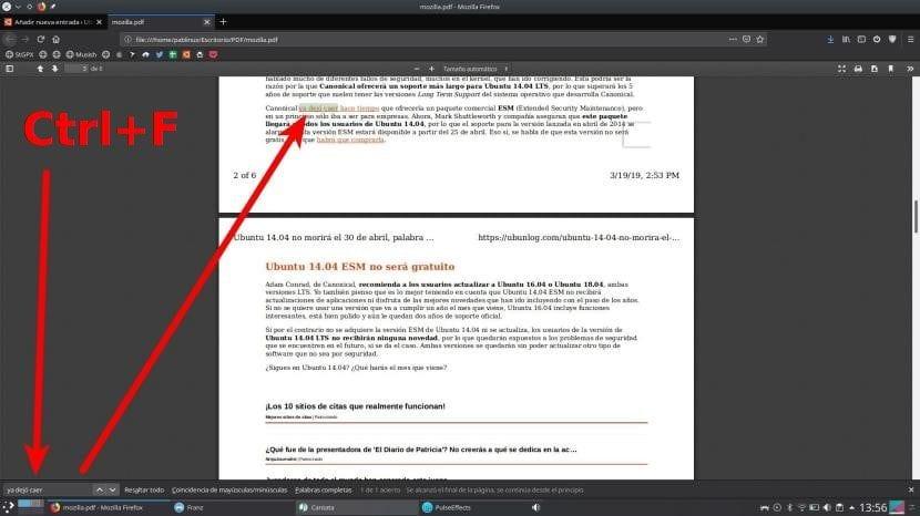 Buscar texto en PDF con Firefox