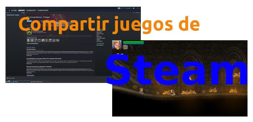 Compartir juegos de Steam