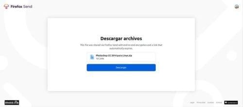 Descargar de Firefox Send 2
