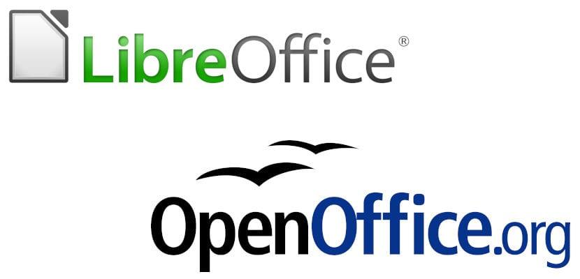 Logos de LibreOffice y OpenOffice