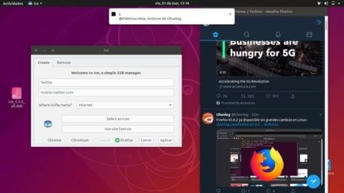 Twitter Lite en Firefox con Ice