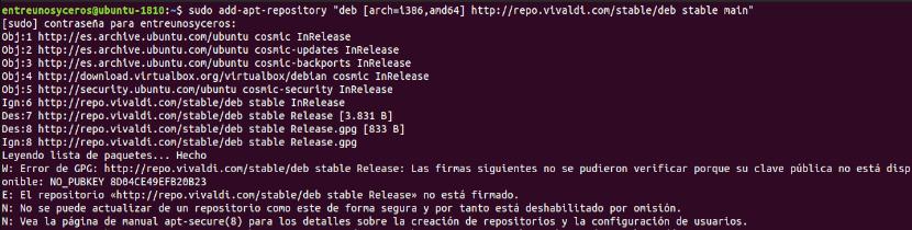 Añadir repo para instalar Vivaldi 2.3