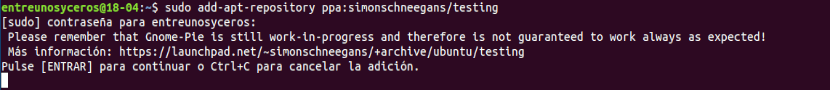 añadir repositorio de gnome-pie