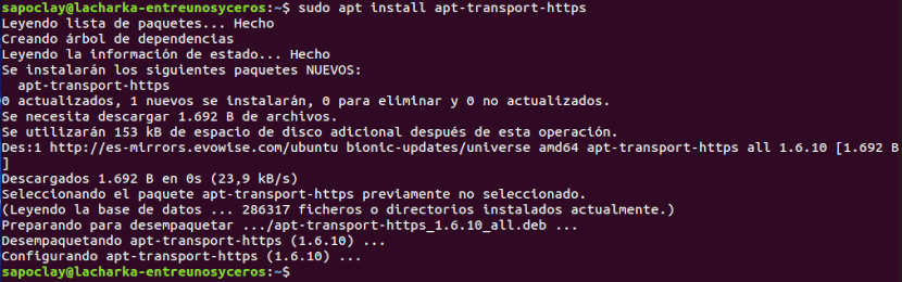 instalar apt transport https